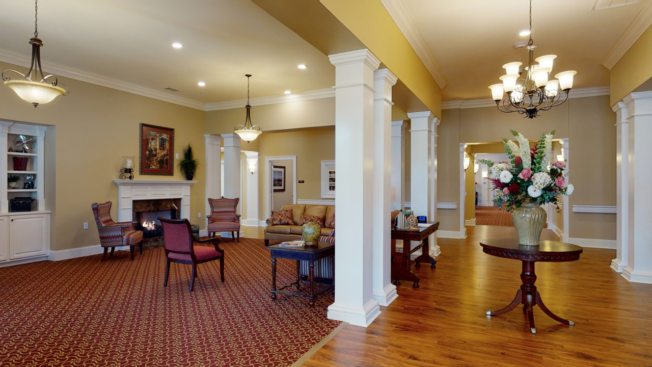 The Main Cottage - Living Room and Lobby