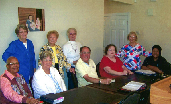 Bible Study Group in Milledgeville Senior Living Community